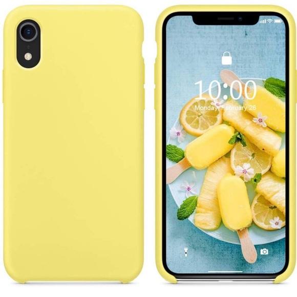 the best attitude 67e05 d805a iPhone XR yellow matte case